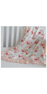 Blanket-Pink Mint Floral