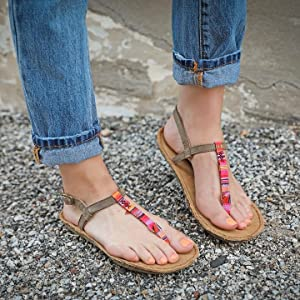 Tamarindo tidal Sandal Women's Leather Softbed Flip Flop