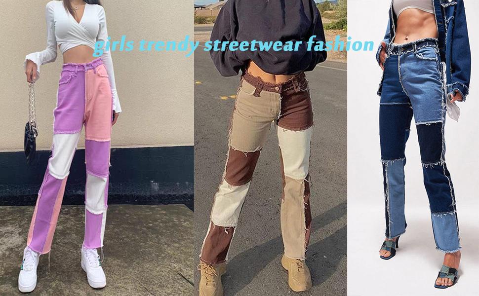 girls trendy streetwear fashion