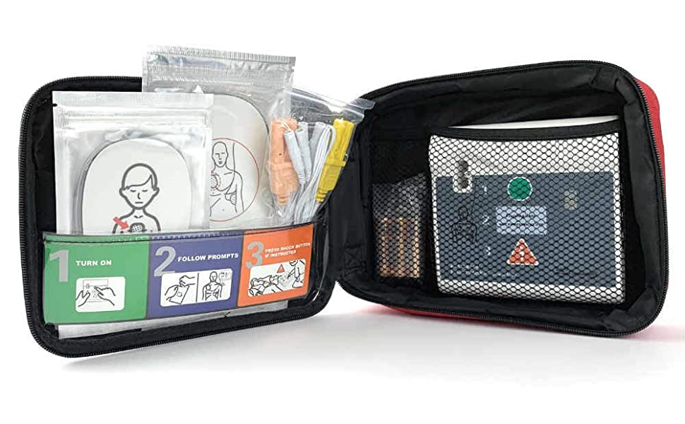 AED trainer kit open case