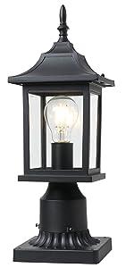 BEEZOK Outdoor Porch Lantern Pillar Light