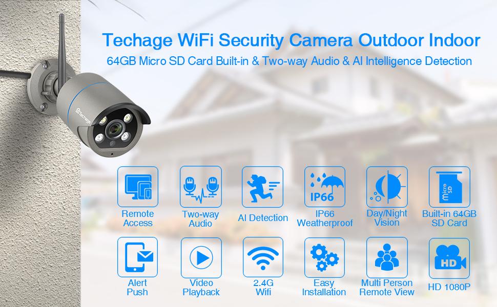Techage security cameras