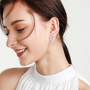 bride stud earrings for woman