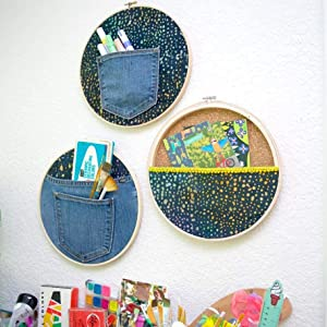 Embroidery Hoops Set Bamboo Circle Cross Stitch Hoop Ring 6 inch for Christmas Deco Embroidery