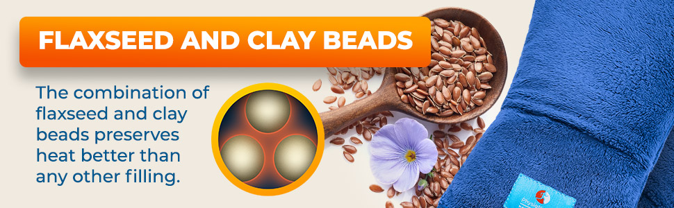 Flaxseed and Clay beads
