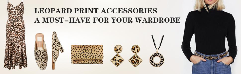 thin leopard belt women