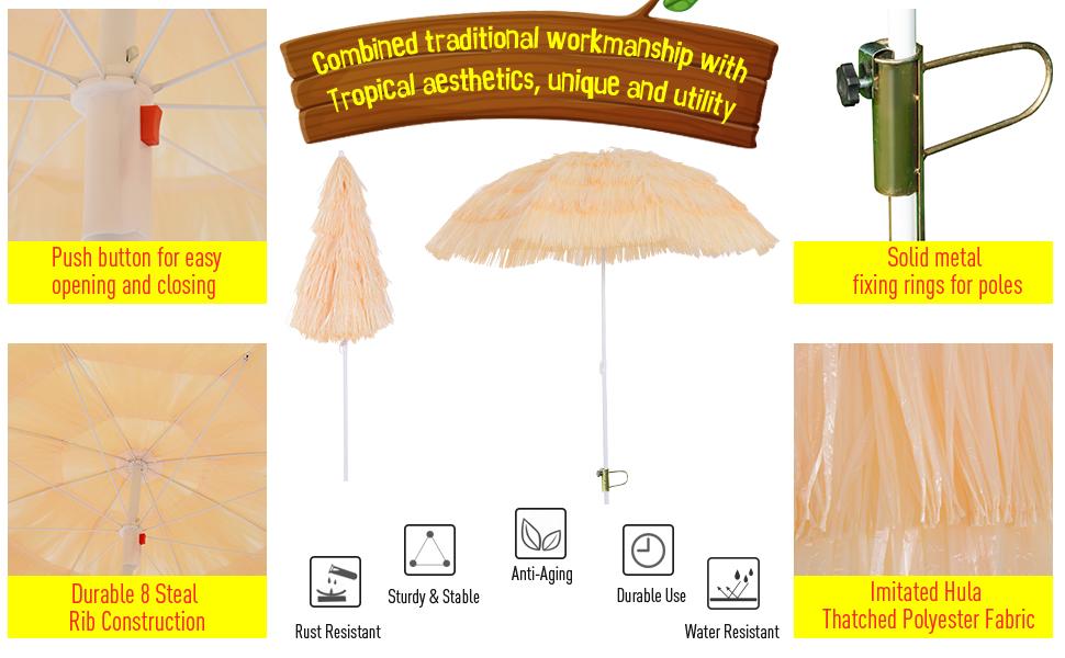 outsunny parasol