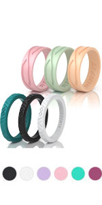 6 rinfit rings from silicone