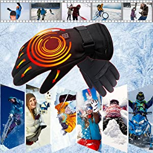 electric rechargeable battery heated gloves cold weather warm winter thermal heating hand warmer
