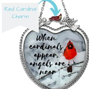 red cardinal charm charms outside indoor hanging wind chimes sympathy loving memorial