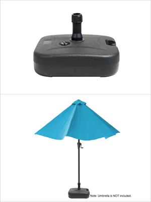 offset umbrella base