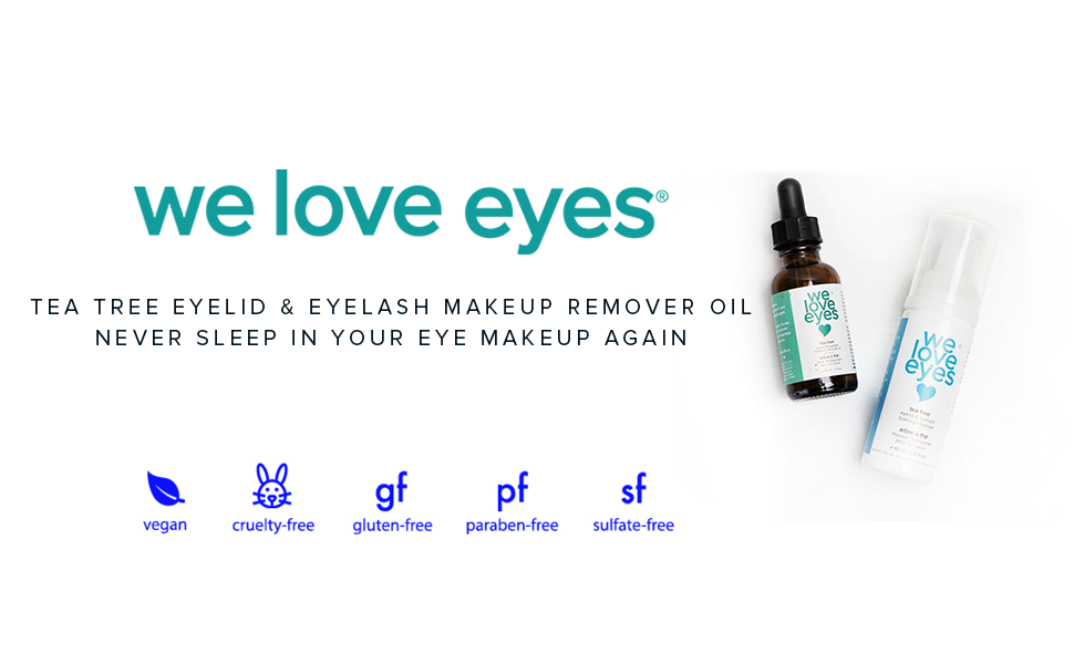 WE LOVE EYES EYE MAKEUP REMOVER OIL WITH TEA TREE OIL