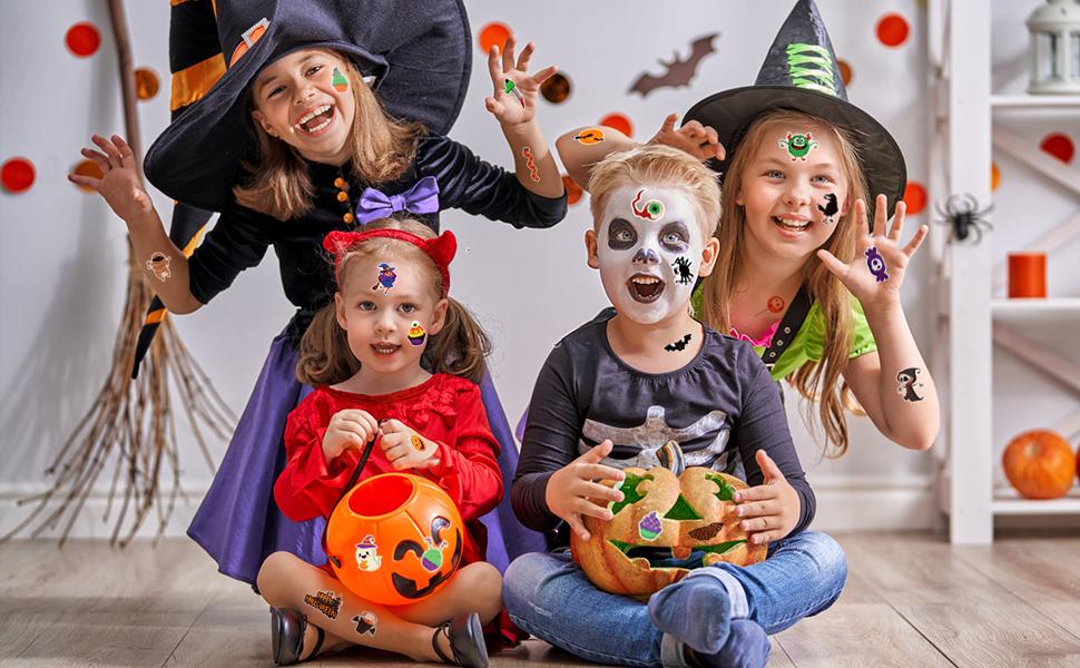 Kids Halloween Tattoos 2