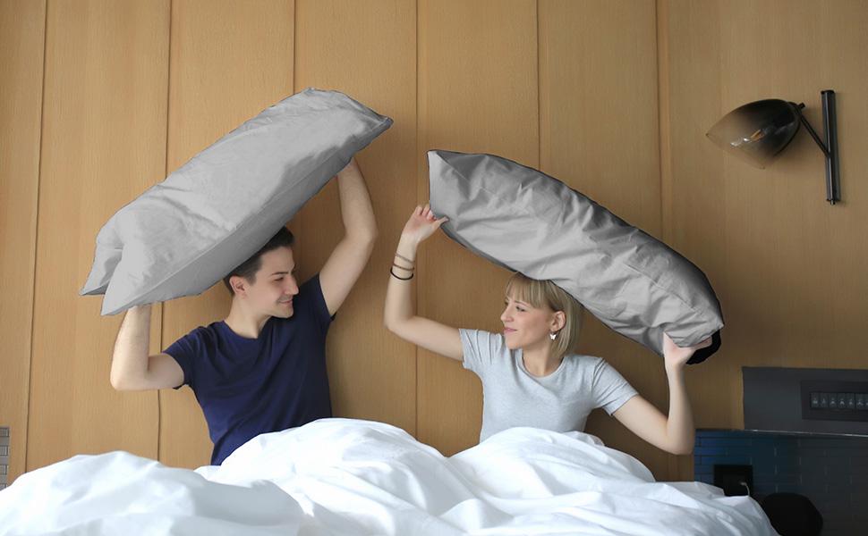 Lot de 4 taies d'oreiller adaptées à la famille et aux voyages