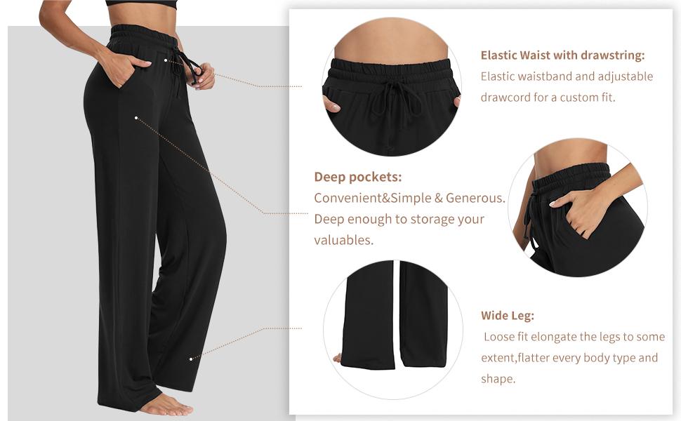 Pajama pants High waisted pants for women Drawstring joggers for women yoga sweatpants