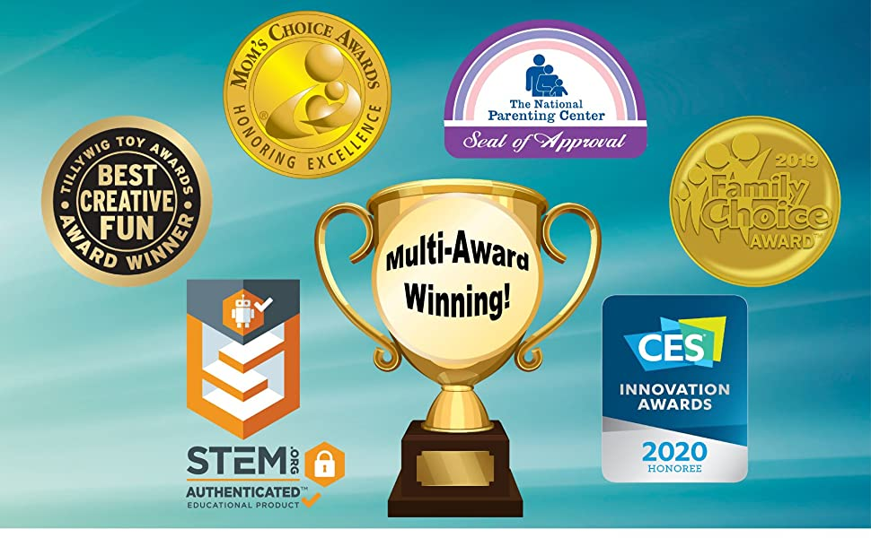 Moms Mom's Choice Awards Tillywig CES 2020 2019 National Parenting Center Stem Family Choice Award