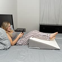 bed wedge for acid reflux pillow