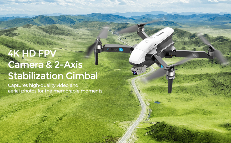 Flashandfocus.com e4b137c1-3da6-4b67-bcd6-2975046c0106.__CR0,0,970,600_PT0_SX970_V1___ SIMREX X20 GPS Drone with 4K HD Camera 2-Axis Self stabilizing Gimbal 5G WiFi FPV Video RC Quadcopter Auto Return Home…