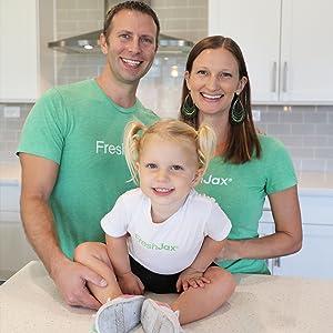 Jason, Hillary, and Ella McDonald Family Photo
