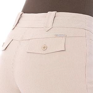 Back view: belt loops, back yoke,