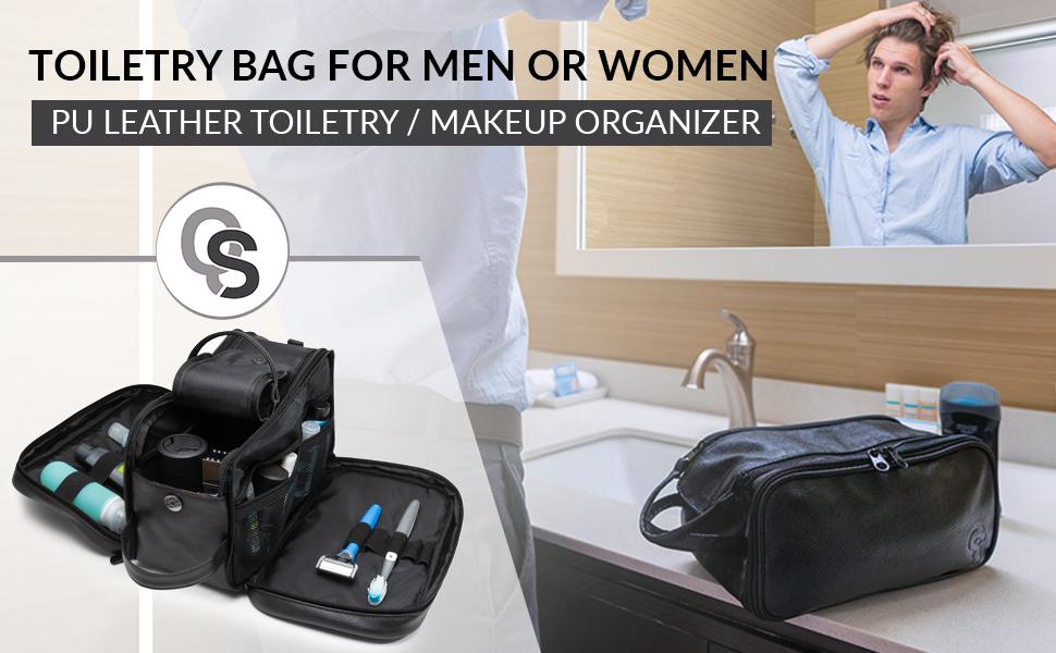 toiletry bag for men and women dopp kit for travels cosmetic makeup bag shaving kit camping travel