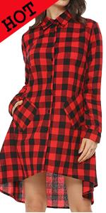 women plaid dress