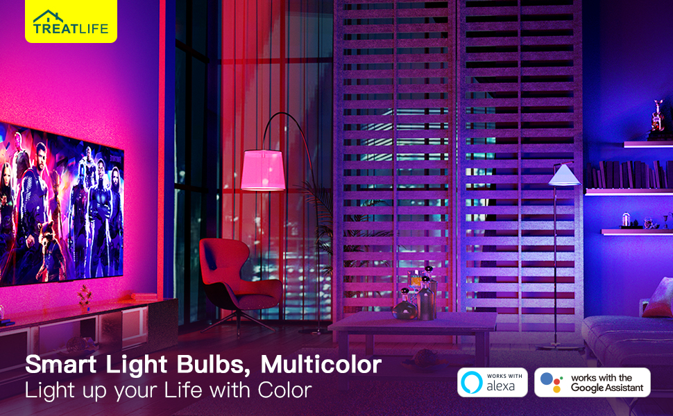 smart light bulbs colorful