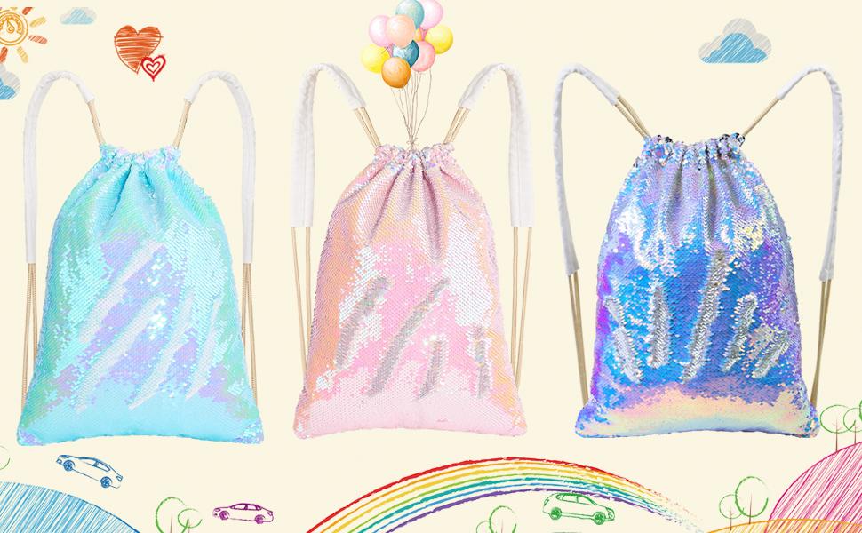 Purple YaptheS Mermaid Sequin Bag Cartoon Wallet Mermaid Magic Sequin Bag Sequin Bag for Kids Adults Storage Bag Practical