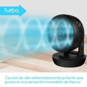 MYCARBON Ventilador Silencioso Ventilador de Mesa con Control Remoto 360° Ventilador de Escritorio con 4 Velocidades Circulación del Aire para 4 Estacionas Portátil Temporizador y Secadora de Ropa: Amazon.es: Hogar