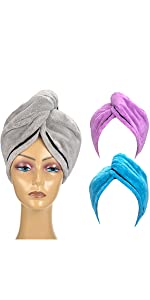 3 Pack hair drying towels
