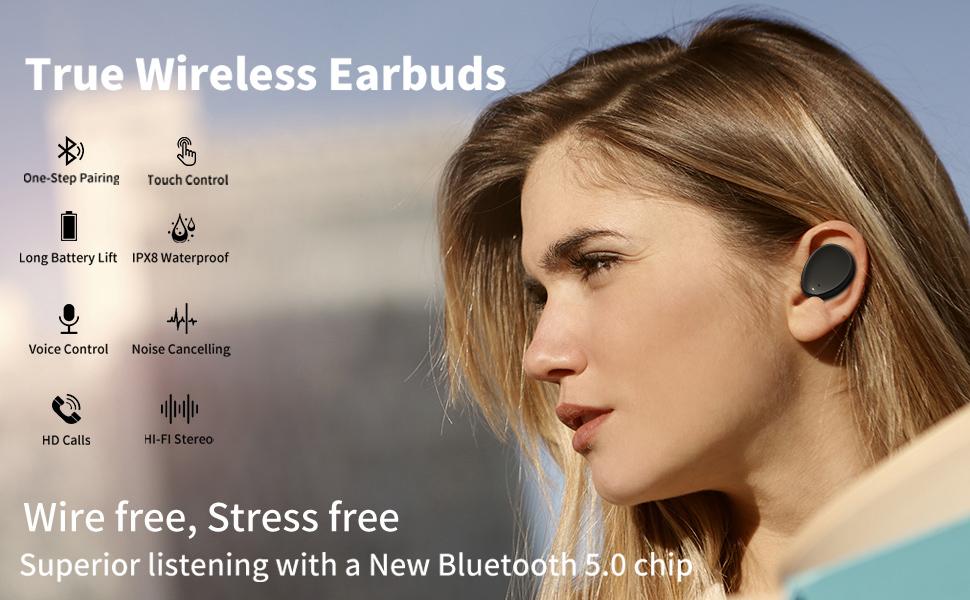 Wireless Earbuds Bluetooth earphones Headphones