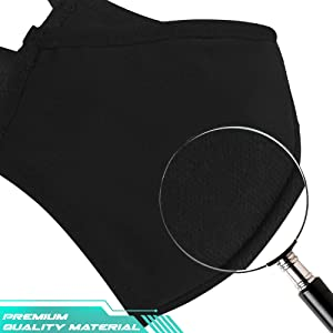 3 unids algodón anti-polvo máscara facial protección bandana pasamontañas, 2 capas unisex reutilizable moda lavable máscara facial (3)