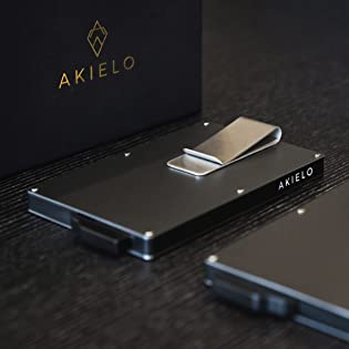 AKIELO Wallet and Lifestyle Brand credit card holder for minimalist and slim wallet tech lovers