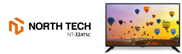 NT North Tech - New HD LED digital TV ATSC