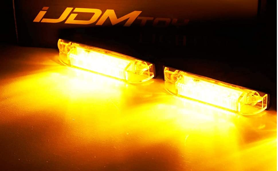 Tidal 07-18 Jeep Wrangler JK Flat Styler Fender Flare with Side LED Amber Light