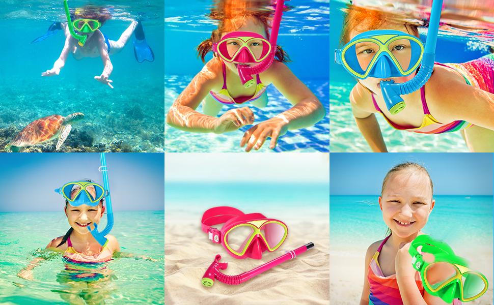 kids snorkel set