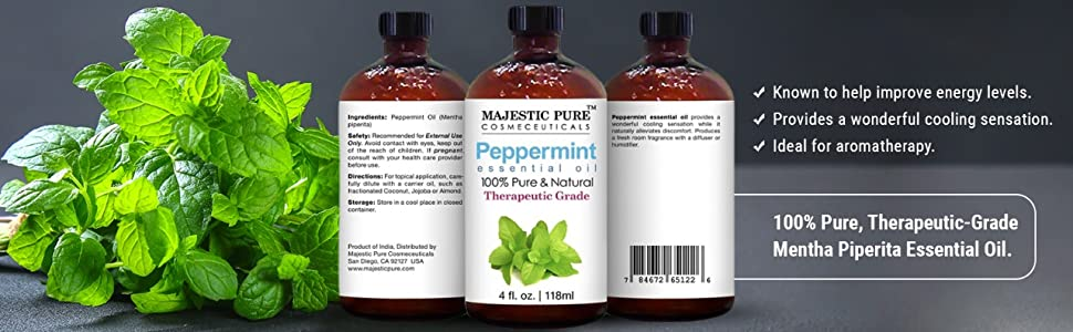 majestic pure peppermint essential oil therapeutic grade organic top best premium aromatherapy menta