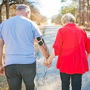 Aliev TENS + EMS - Estimulador muscular para alivio del dolor y artritis y fuerza muscular