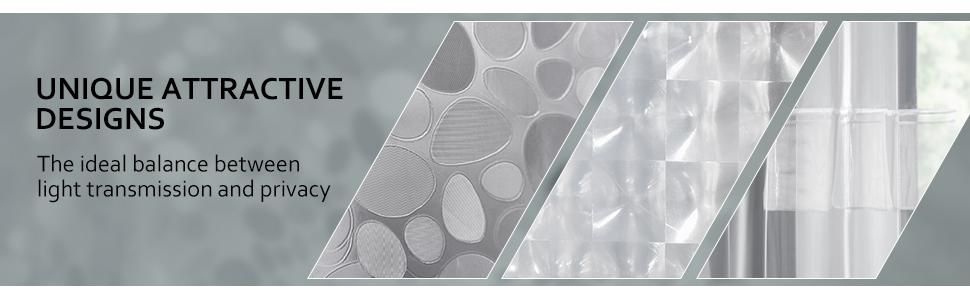 unique design shower curtain liner