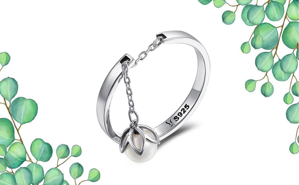 white pearl rings