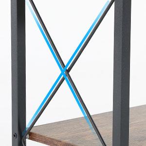 Table d'entrée à 3 étages - 100 cm - Marron rustique - Console d'entrée - Cadre en acier robuste