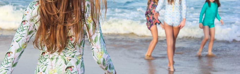girls long sleeve swimsuit long sleeve rashguard swimsuit cute swimsuit