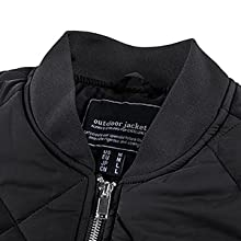 Men's Jackets Winter Padded Athletic Outwear Casual Windproof Bomber Varsity Coat