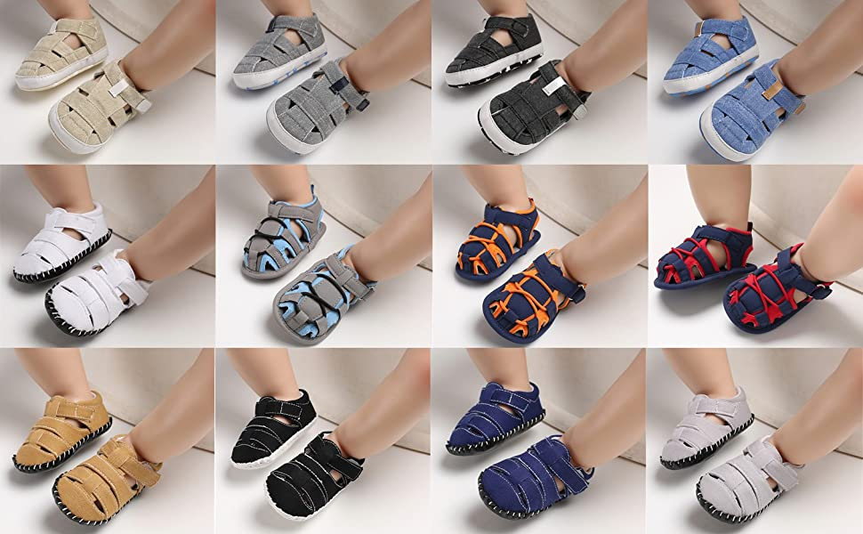 Soft Sole Infant Boys Girls Summer Premium Toddler Shoes CoKate Camo Sandals