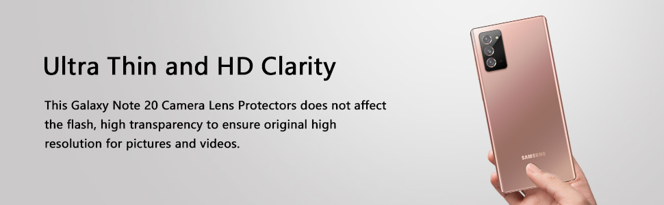 Black Casetego for Galaxy Note 20 Camera Lens Protector, Ultra Thin 9H Tempered Glass Camera Hardened High Definition Anti Flash Camera Lens Protector for Samsung Galaxy Note 20 2 Pack