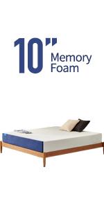 10 inch queen mattress memeory foam mattress