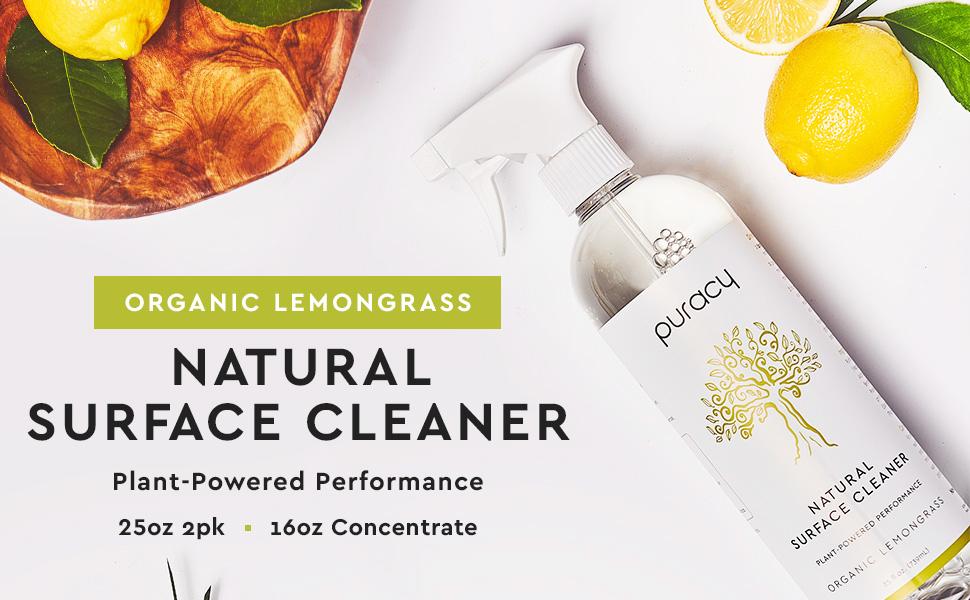 Puracy Natural Multi-Surface Cleaner - Organic Lemongrass 2pk