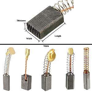 Sourcingmap Kohlebürsten Für Elektromotor 20 Mm X 5 Mm X 5 Mm Elektrowerkzeug Handbohrer Gebläse Mixer Ersatzteil 15 Stück Baumarkt