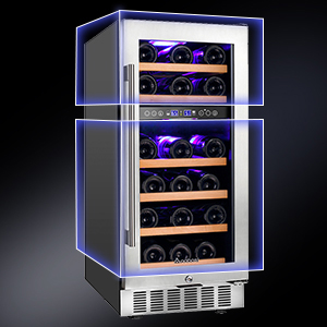 wine refrigerator built in dual zone