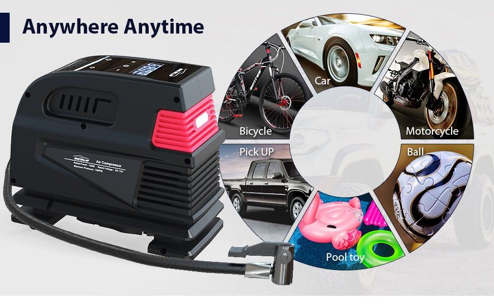 car air compressor tire pumps for automobiles